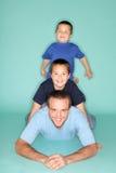 Papa et ses garçons Photographie stock