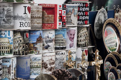 Pope Francis  souvenirs from Rome Stock Photos