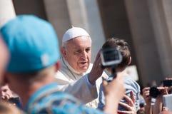 Papa Francis Blesses Child Imagenes de archivo