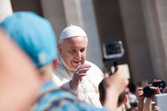 Papa Francis Blesses Child fotografia de stock