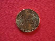 Papa Francis Eu moeda de 50 centavos Foto de Stock