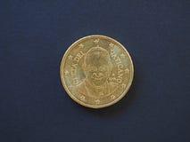 Papa Francis Eu moeda de 50 centavos Fotos de Stock Royalty Free