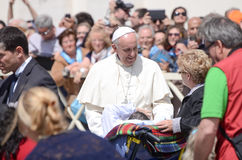 Papa Francis Portrait em Cidade Estado do Vaticano imagens de stock royalty free