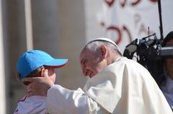 Papa Francis Portrait em Cidade Estado do Vaticano imagem de stock