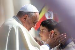 Papa Francisco Portrait Imágenes de archivo libres de regalías