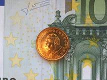Papa Giovanni Paolo II una moneta da 50 centesimi Fotografia Stock Libera da Diritti
