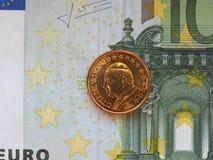 Papa Giovanni Paolo II una moneta da 50 centesimi Fotografia Stock