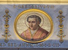 Papa Gregory VII imagem de stock royalty free