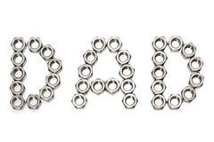 Papa het van letters voorzien met noten Royalty-vrije Stock Afbeelding
