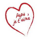Papa je t'aime card Stock Photos