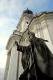 Papa John Paul II Statue. John Paul II statue in Wadowice Poland, papa's hometown Royalty Free Stock Image