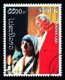 Papa John Paul Postage Stamp Fotografia Stock