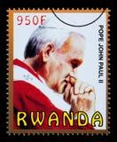 Papa John Paul Postage Stamp Fotografia Stock Libera da Diritti