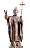 Papa John Pavel da estátua imagens de stock