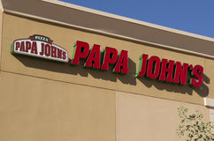 Papa John's Pizza Fast Food Restaurant Stock Photos