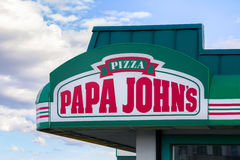 Papa John's Restaurant Exterior Royalty Free Stock Images