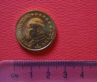 Papa Juan Pablo II moneda de 50 centavos Foto de archivo libre de regalías