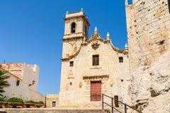 Papa Luna Castle In Spain Royaltyfri Foto