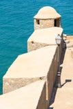 Papa Luna Castle Walls In Spain Arkivbilder
