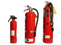 Papa, Mama, & Baby Extinguisher Stock Photo