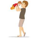 Papa met baby royalty-vrije illustratie