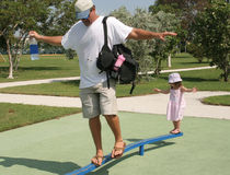 Papa met dochter Royalty-vrije Stock Afbeeldingen