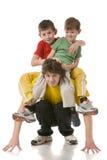Papa met twee zonen Royalty-vrije Stock Afbeelding