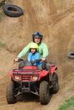 Papa met zoon Stock Fotografie