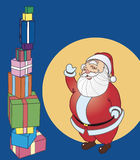 Papa Noel. Cartoon Happy Christmas Vector Illustration