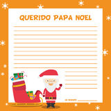 Papa Noel letter template vector illustration Stock Photo