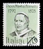 Papa Pío IX, serie famoso de los italianos, circa 1978 Fotografía de archivo libre de regalías