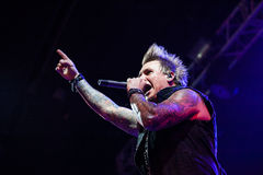 Papa Roach em Moscou imagem de stock royalty free