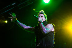 Papa Roach w Moskwa Fotografia Royalty Free