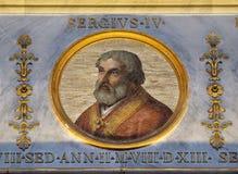 Papa Sergius III foto de stock