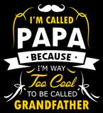 Papa Shirt Design For Proud FAR royaltyfri illustrationer
