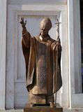 Papa Woytyla statue in Italy Stock Image