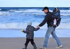 Papa, zoon en dochter stock afbeeldingen