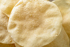 Papadom (fried South Indian crackers) royalty free stock photo