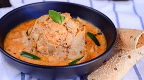 Papadum-Curry oder Papad Ki Sabji Stockfoto