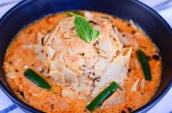 Papadum-Curry oder Papad Ki Sabji Stockfotografie