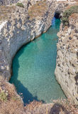 Papafragas cove, Milos island, Greece Royalty Free Stock Photography
