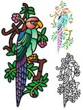Papagaio da fantasia Fotos de Stock Royalty Free