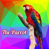 Papagaio do vetor do polígono Imagem de Stock