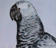 Papagaio do Watercolour Foto de Stock Royalty Free