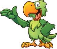 Papagaio dos desenhos animados Imagem de Stock