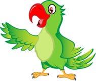Papagaio dos desenhos animados imagens de stock