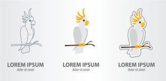 Papagaio dos logotipos Fotografia de Stock Royalty Free
