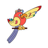 Papagaio engraçado Fotografia de Stock Royalty Free