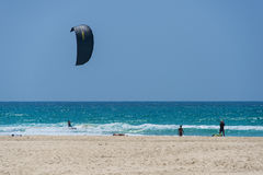 Papagaio que surfa em Netanya, Israel Imagem de Stock Royalty Free