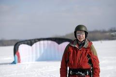 Papagaio-surfista do inverno Imagem de Stock Royalty Free